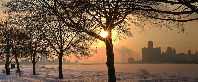Michael Brouwer Belle Isle Winter Sunset