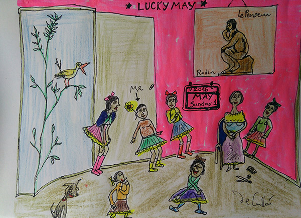 Lucky May, drawing by Daniel de Culla