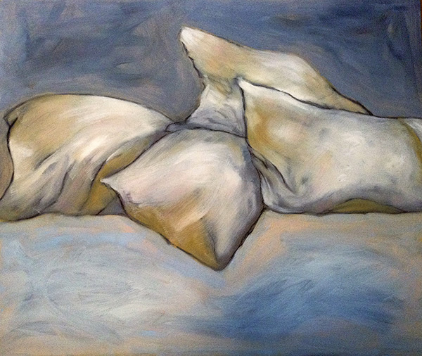 "Pillow Talk - oil on canvas - 20"" x 24"" - by Dian Parker"